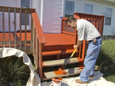 Nash Painting residential deck staining