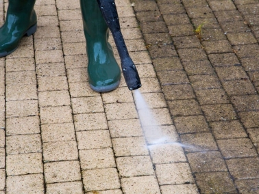 Nash Painting residential exterior power washing