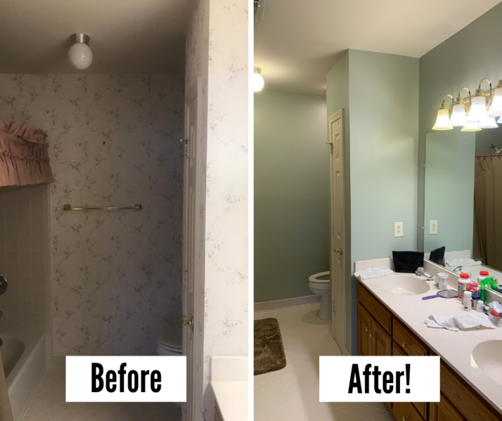 interior painting and wallpaper removal